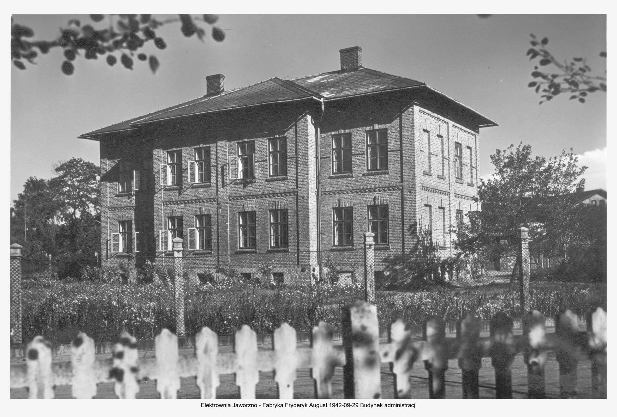 Administration building Kraftwerk Friedrich-Augustgrube. 1942 Muzeum w Jaworznie