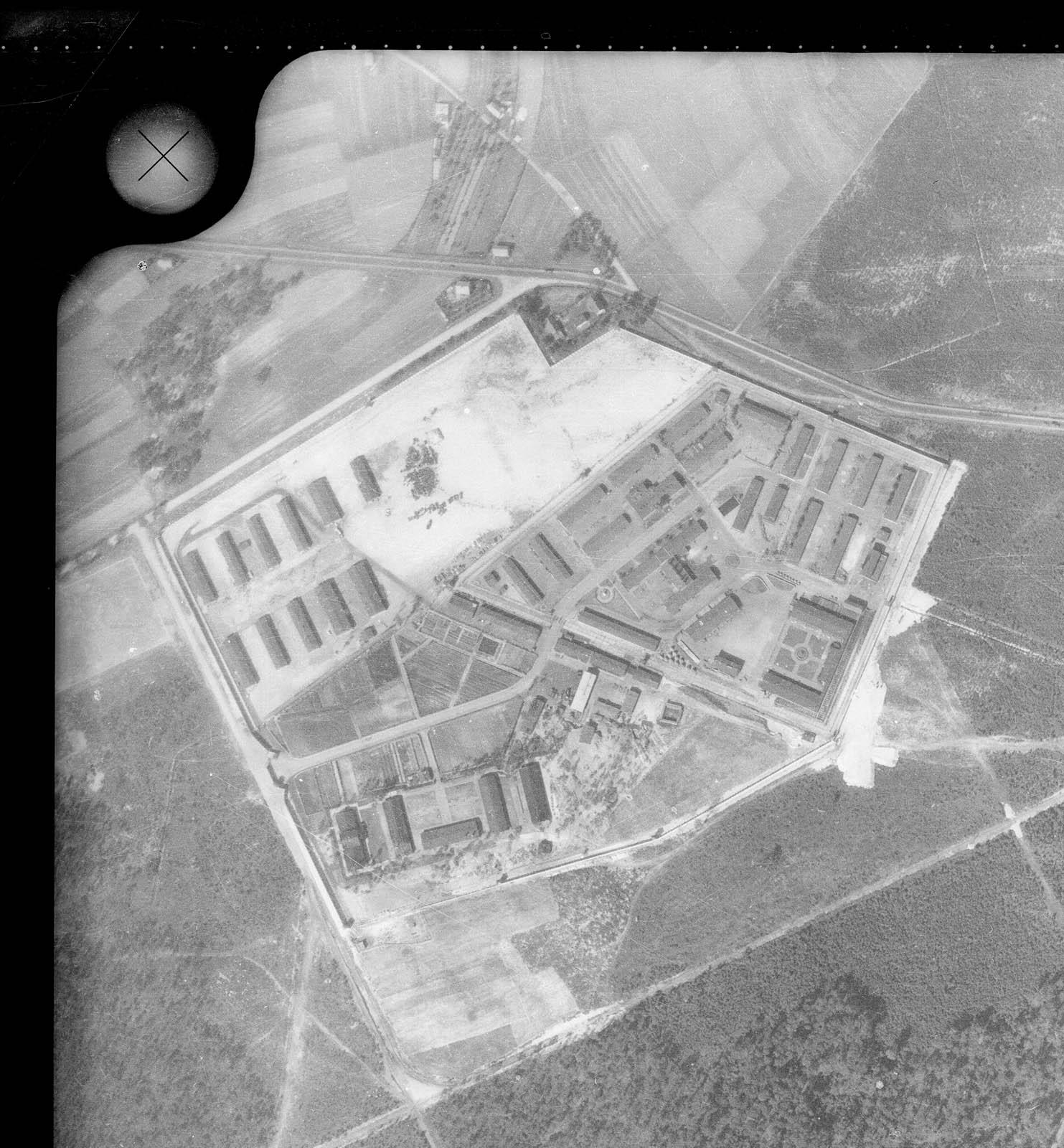 Aerial photograph Jaworzno COP 1947 Muzeum w Jaworznie