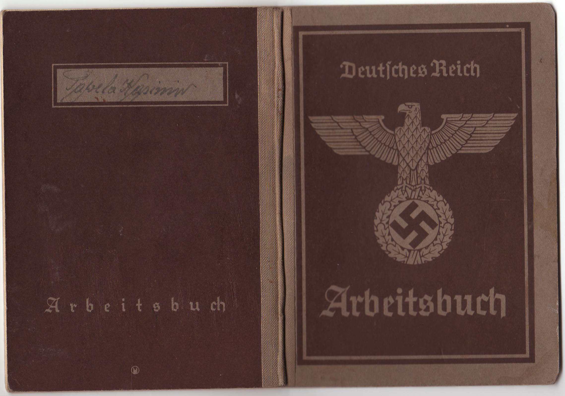 Arbeitsbuch of civilian worker from Janinagrube 1