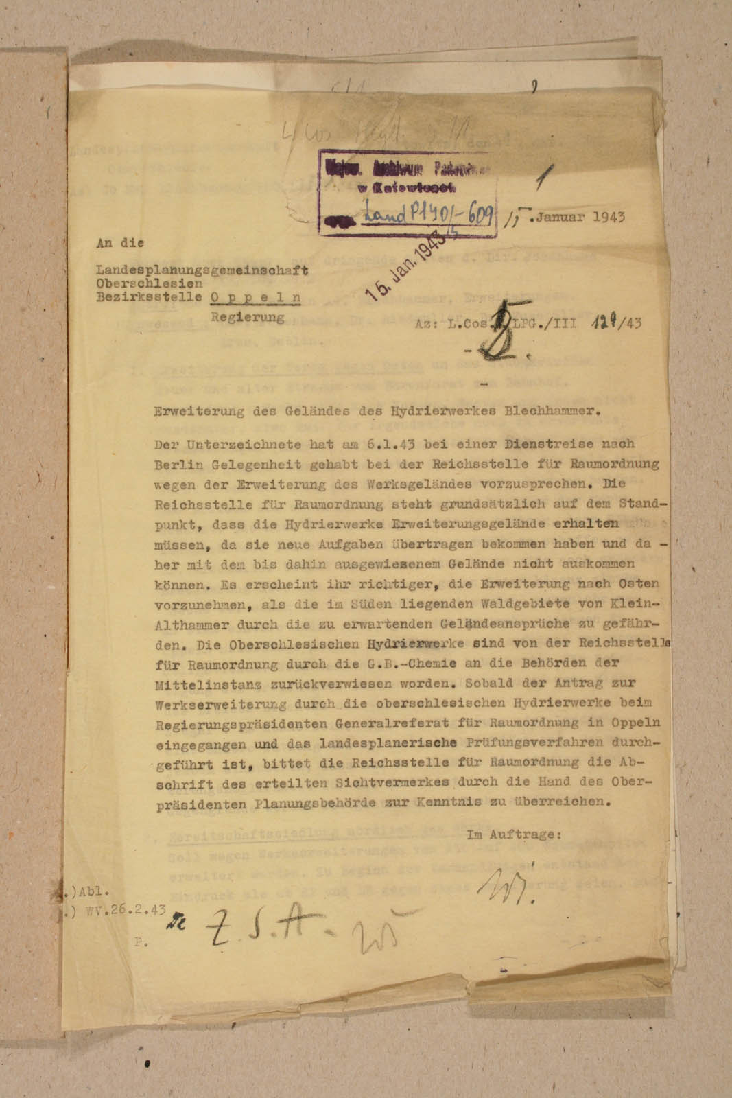 Archiwum Panstwowe w Katowicach Land Pl 12 120 609 01