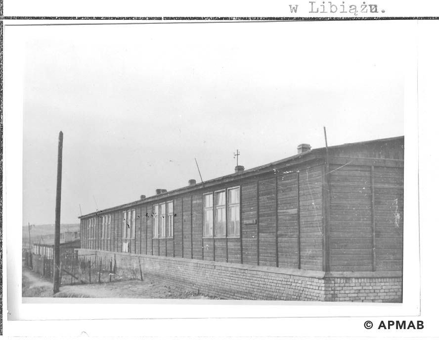 Barrack built after the war on the camp area.1959 APMAB 22270 3
