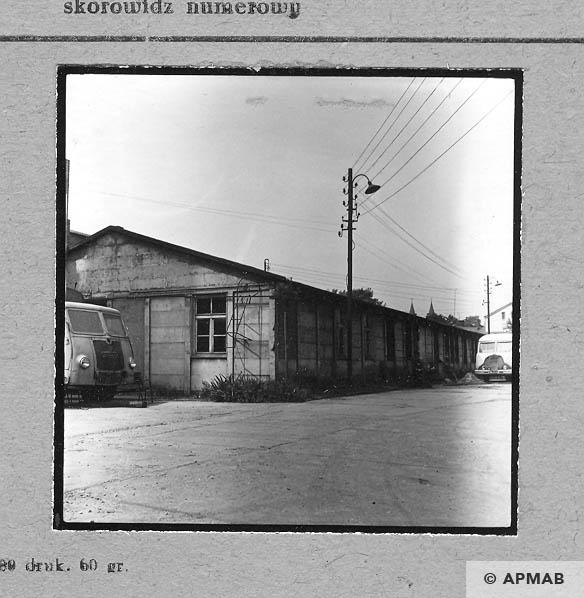 Barrack originally kitchen and Schreibstube. 1963 APMAB 4645