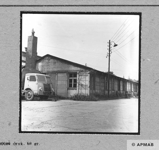 Barrack originally kitchen and Schreibstube. 1963 APMAB 4646