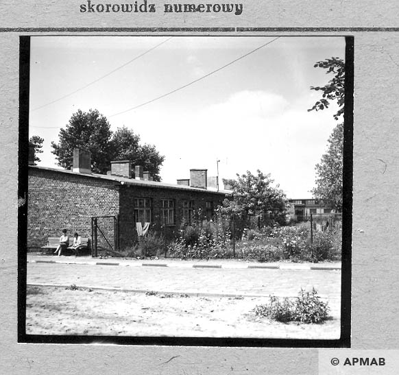 Barracks built after the war on the foundations of original barracks. 1967 APMAB 11039