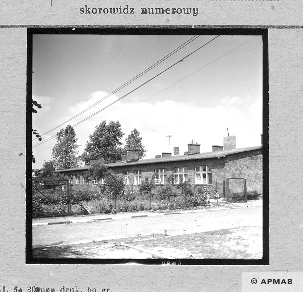Barracks built after the war on the foundations of original barracks. 1967 APMAB 11040