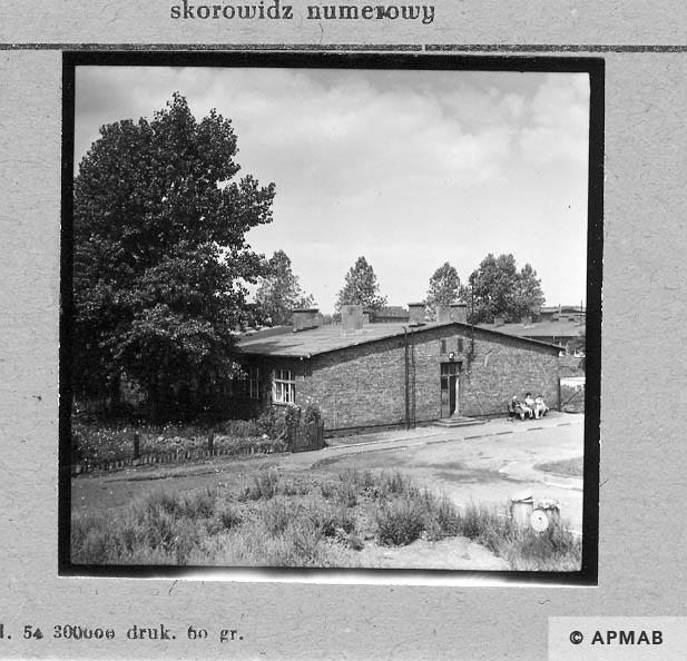 Barracks built after the war on the foundations of original barracks. 1967 APMAB 11041
