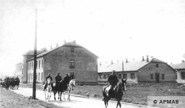 Barracks of the Polish army in the area of KL Auschwitz before September 1, 1939. 2 APMAB