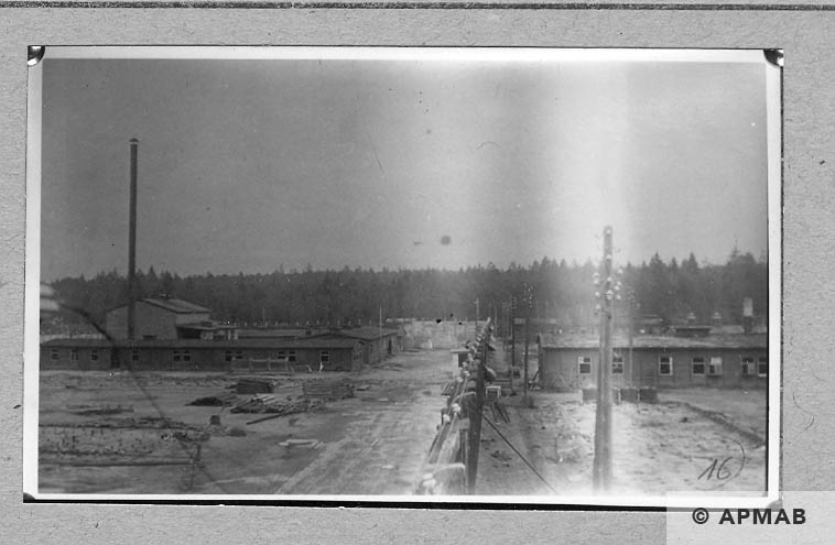 Barracks on the area of the sub camp. 1946 APMAB 10769
