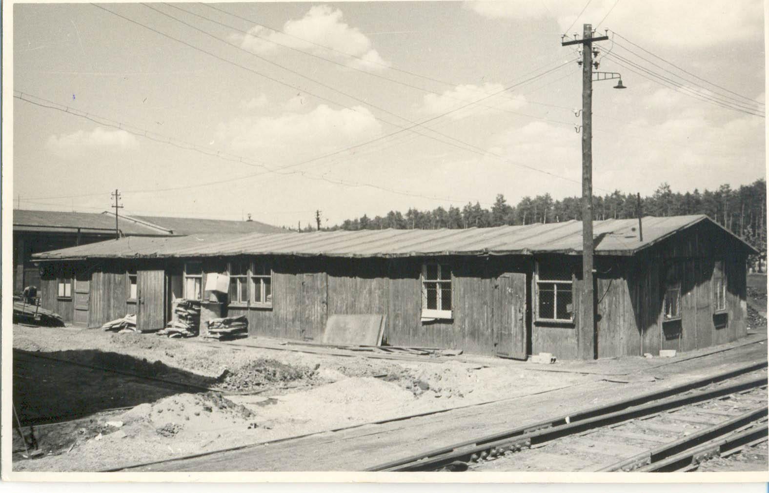 Bata factory near the narrow guage railway. Tomasz Batta Memorial House
