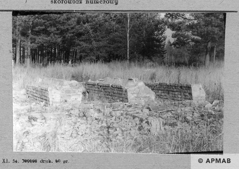 Baths in ruins of the hospital barrack. 1957 APMAB 4358
