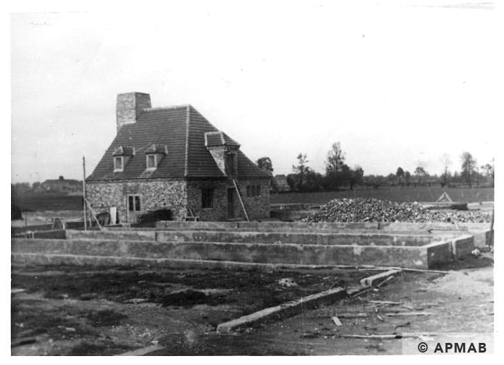 Boiler house in Rajsko. Photo by the Bauleitung d. Waffen SS u. Polizei KL Auschwitz. APMAB 20995 170