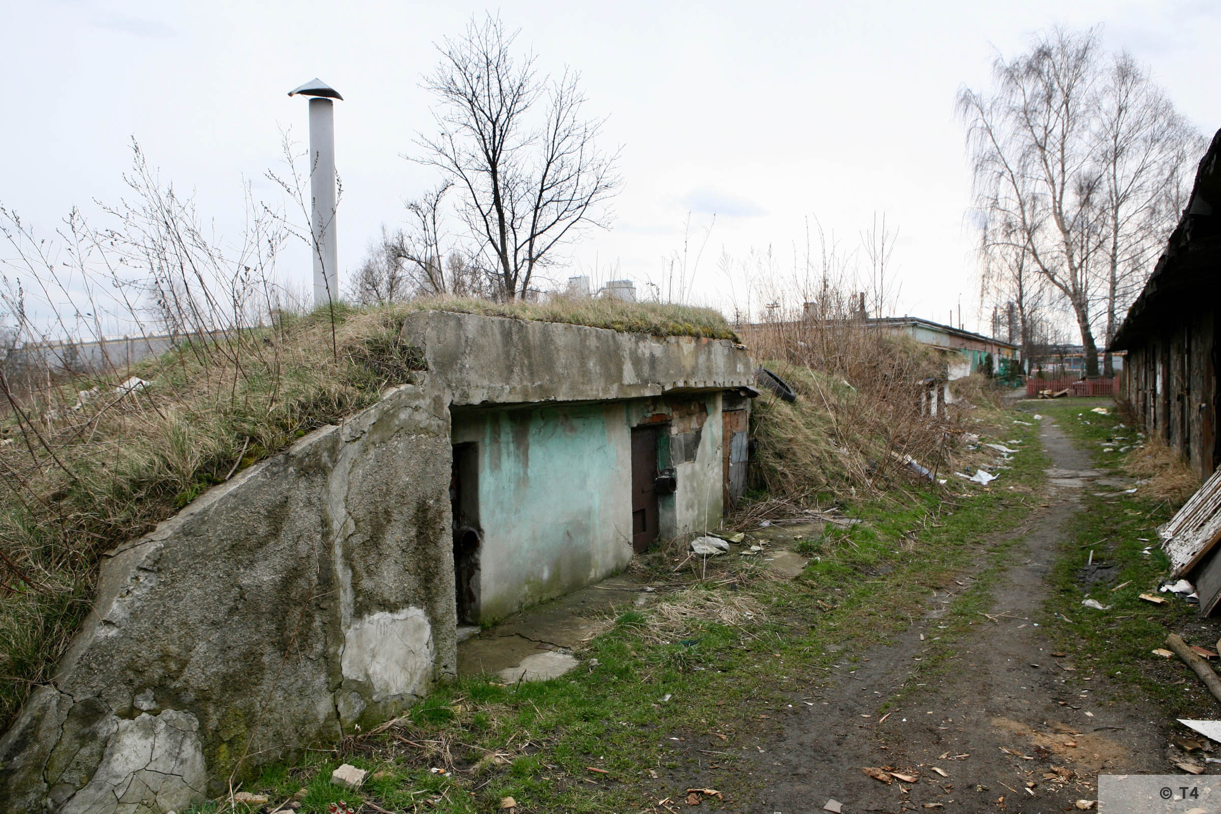 Brick and concrete bunker at the rear of the former sub camp. 2007 T4 4325
