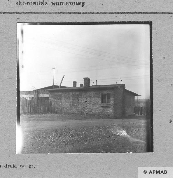Brick building close tothe gate guardhouse. 1963 APMAB 5685