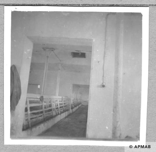 Building for prisoners inside. Currently a pigsty. 1959 APMAB 4361