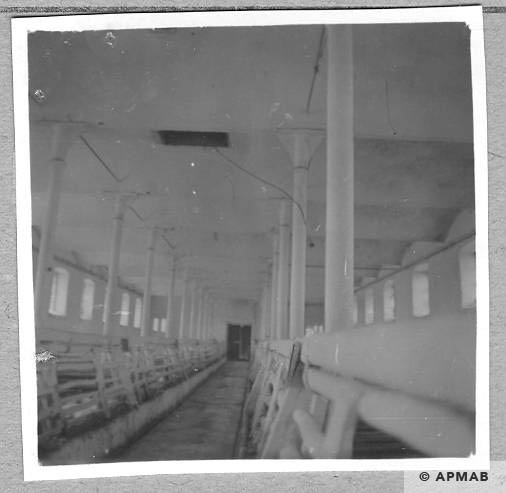 Building for prisoners inside currently a pigsty. 1959 APMAB 4362