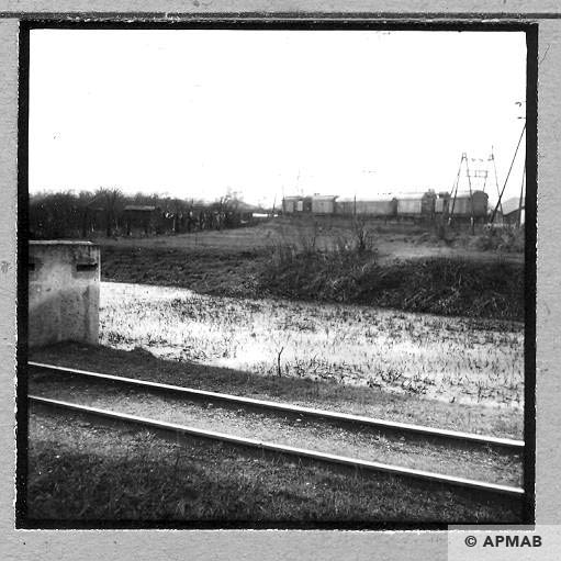 Bunker for SS men and railway of coal mine Gliwice 1959. APMAB 4413