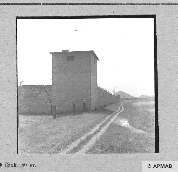 Corner guard tower. 1963 APMAB 5692