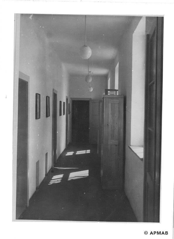 Corridor in a laboratory building. 1941-44 APMAB 20995 155