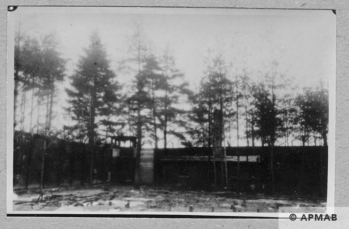 Crematorium and watchtower. 1946 APMAB 10754