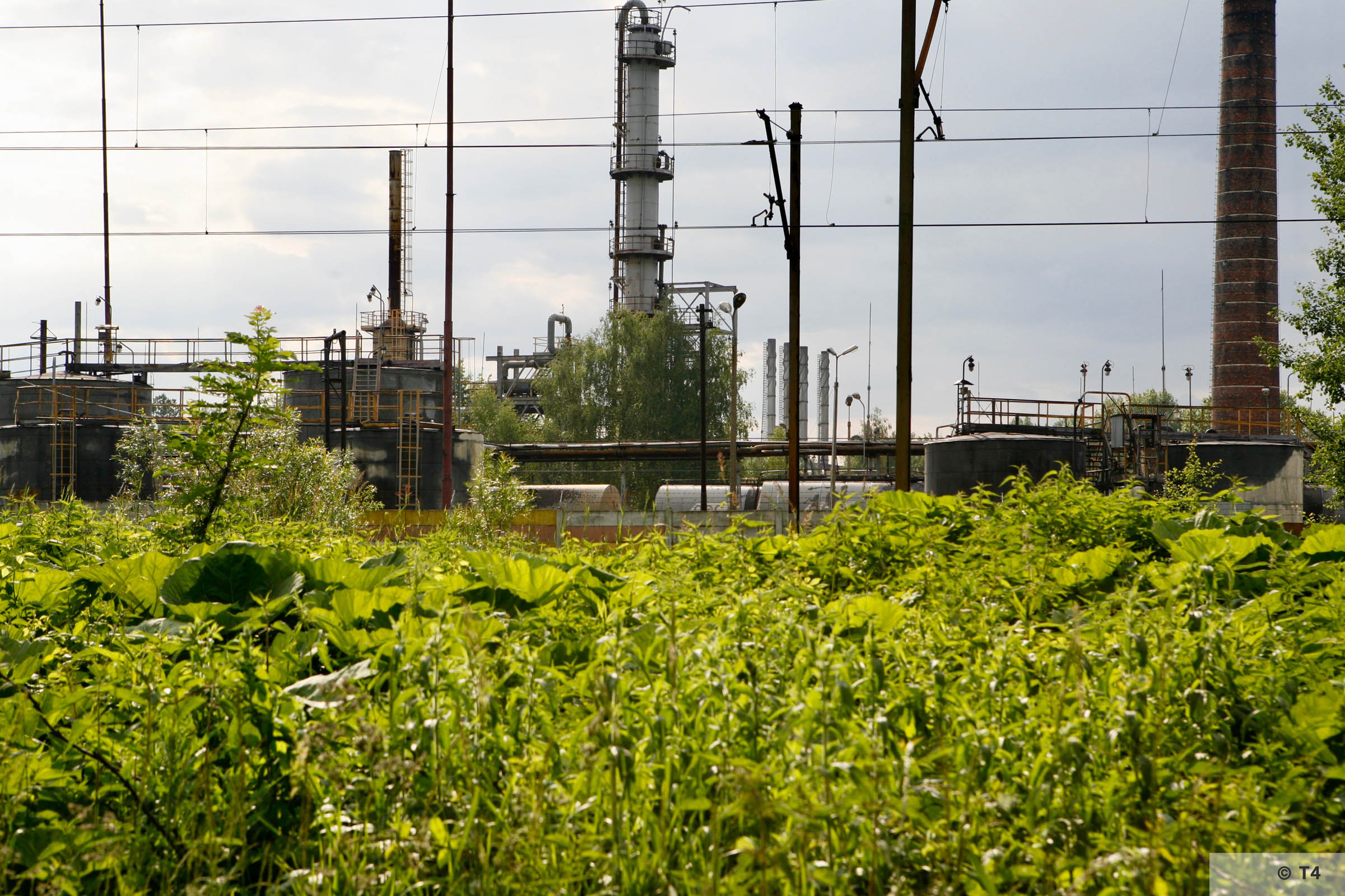Czechowice refinery from outside the former sub camp. 2006 T4 6733
