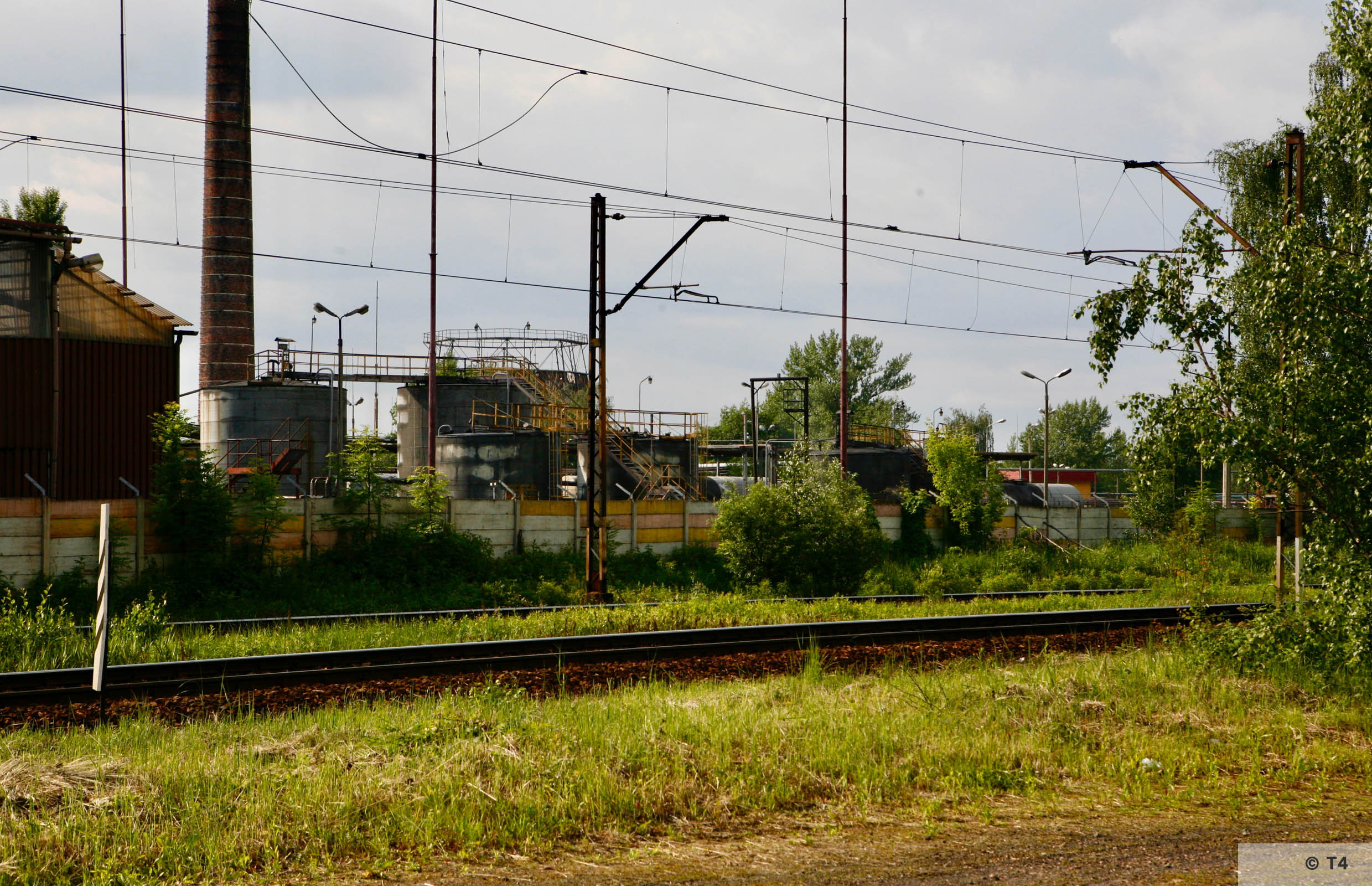 Czechowice refinery from the railway stop near the former sub camp. 2006 T4 6669