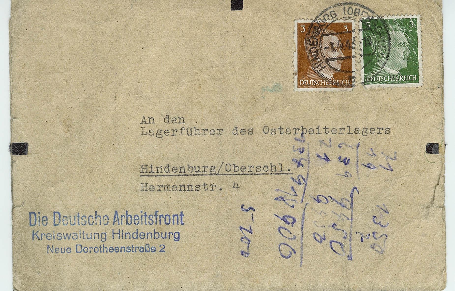 Deutsche Arbeitsfront letter 2