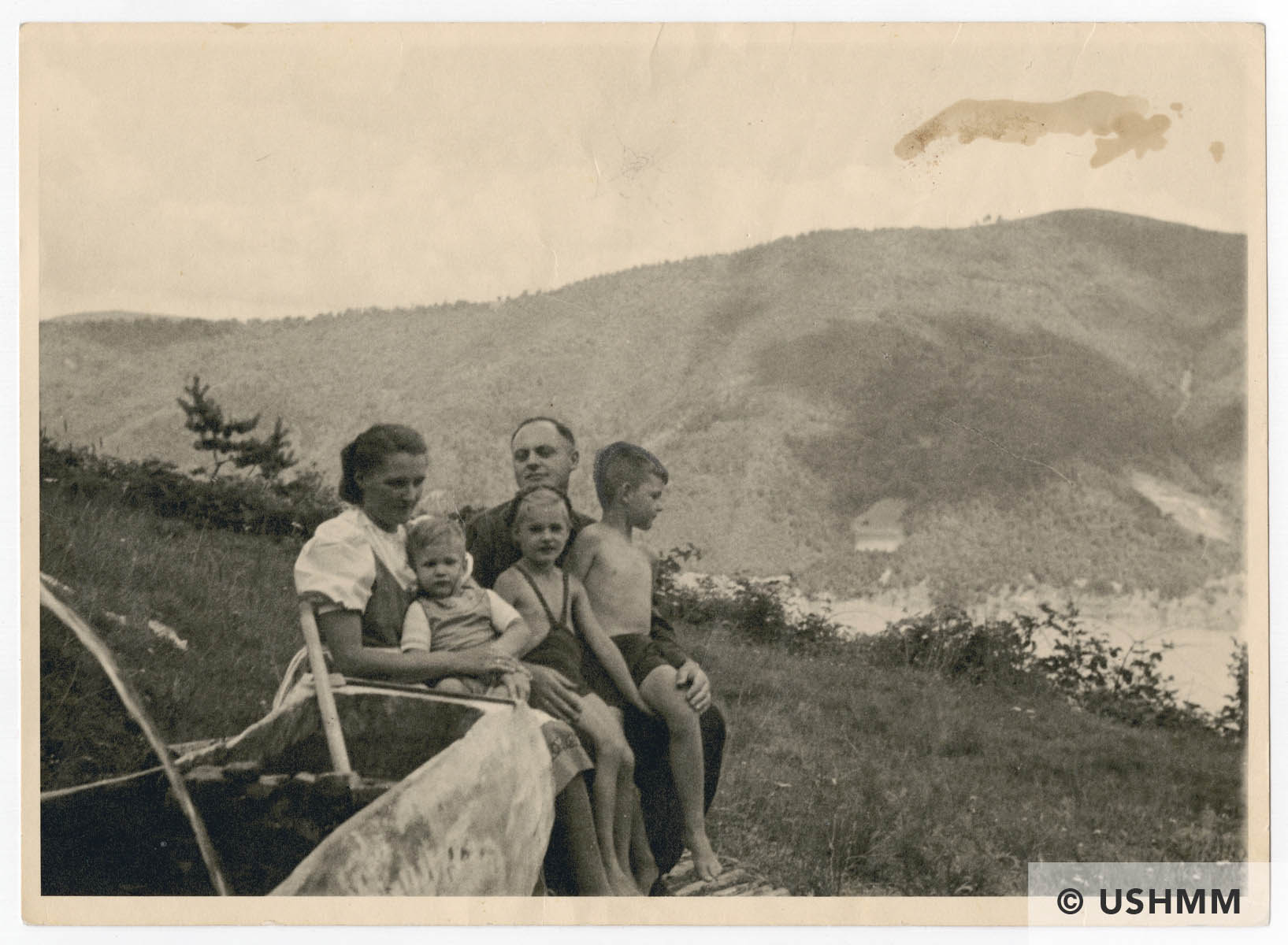 Dr Eduard Wirths on holiday in Solahütte. 1944 USHMM 69090