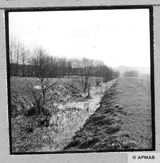 Drainage ditch for water for the Bata factory. Ditch dug by prisoners. 1959 APMAB 4400