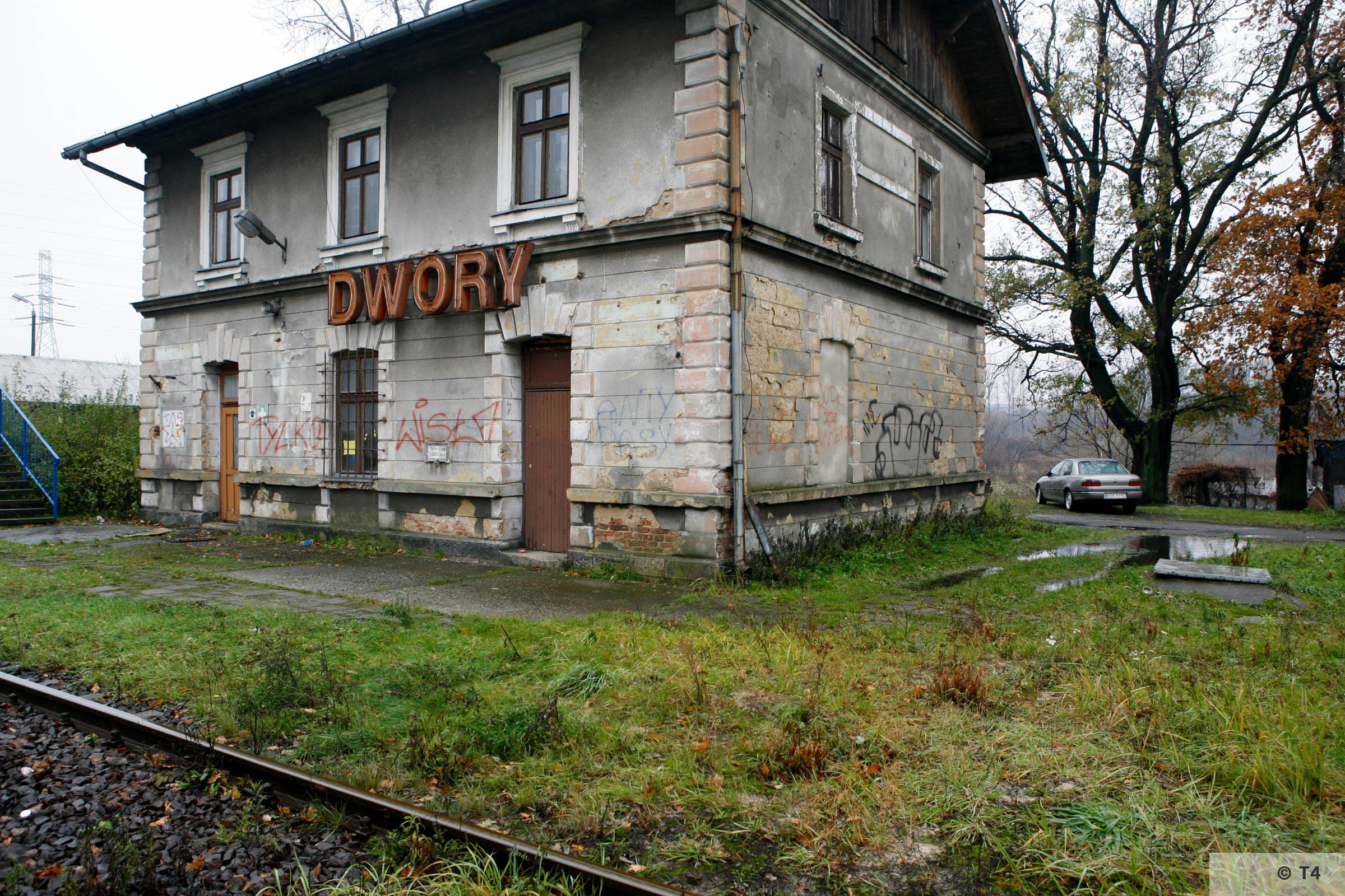Dwory railway station. 2006 T4 4163