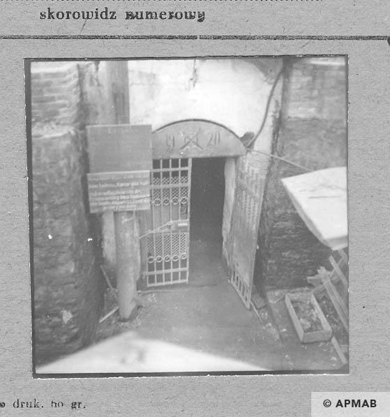Entrance to the coal mine Komuna Paryska where prisoners worked. 1959 APMAB 6470