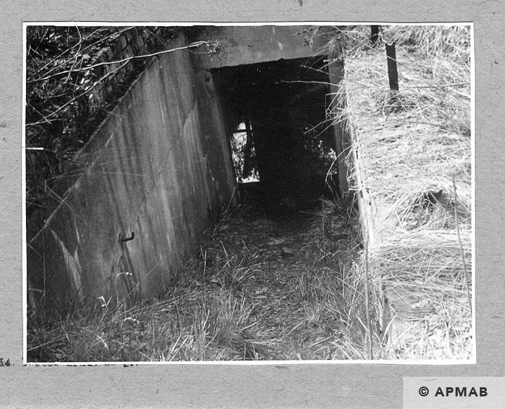 Entrance to the underground part of crematorium on ul Kozielska. 1962 APMAB .928