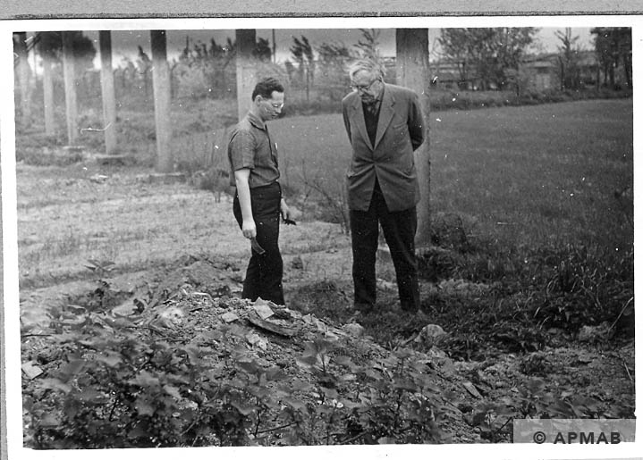 Excavations carried out in the sub camp. 1966 APMAB 10040