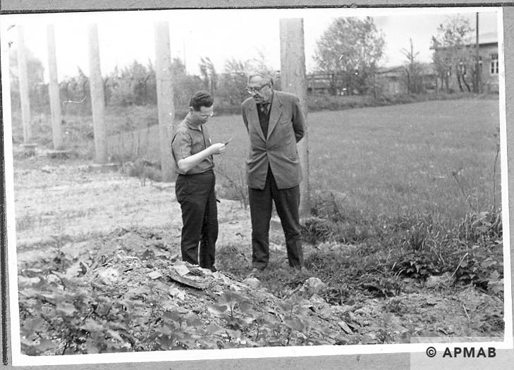 Excavations carried out in the sub camp. 1966 APMAB 10041