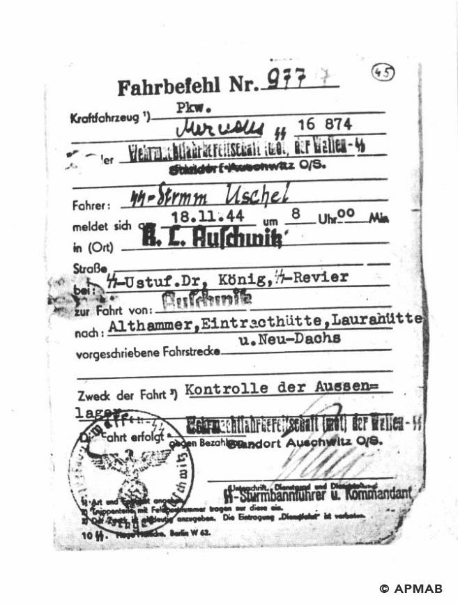Fahrbefehl 18_11_1944 APMAB