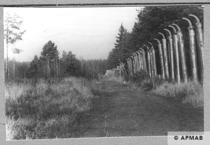 Fence visible from the crematorium. 1957 APMAB 4354