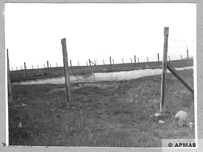 Fire basin in the camp area. 1962 APMAB 913