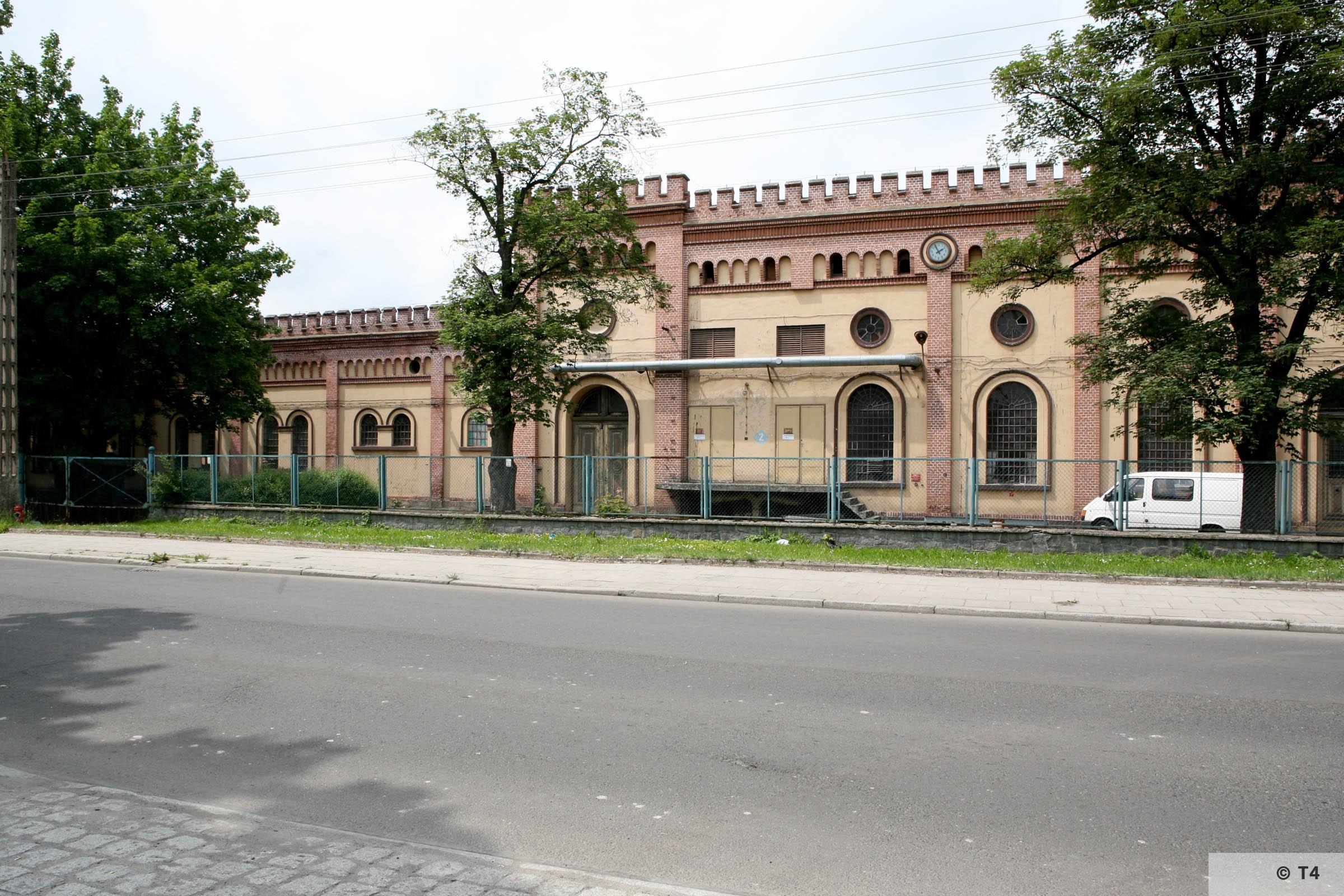 Former Schlesische Feinweberei AG textile mill. 2006 T4 5222