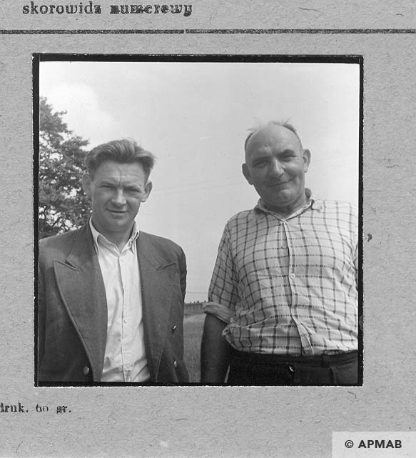 Former prisoner Ludwik Fraszczak on the left. 1963 APMAB 5701