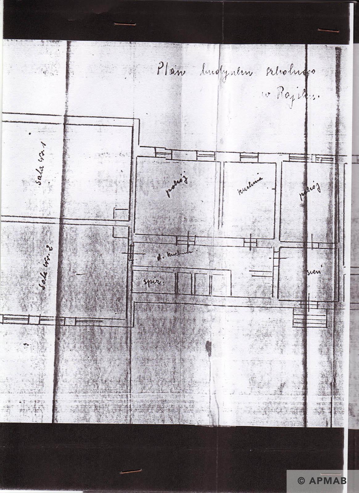 Former prisoner drawing of Raisko laboratory. B APMAB