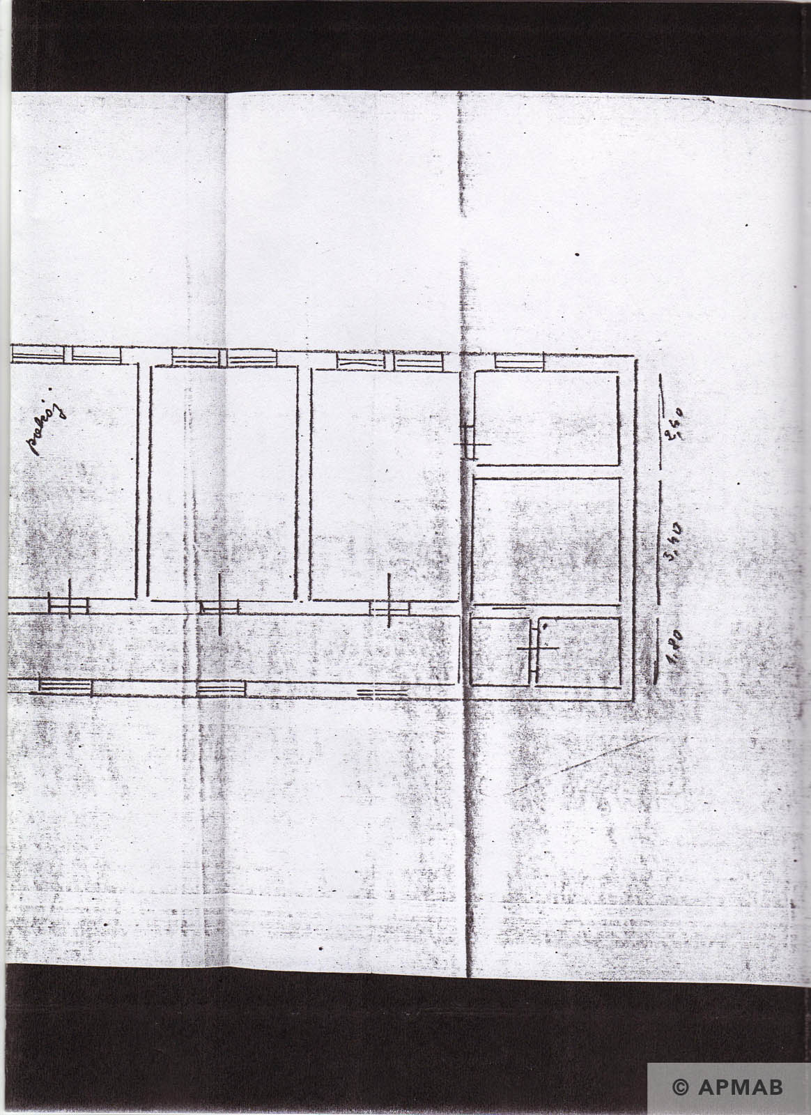 Former prisoner drawing of Raisko laboratory. B1 APMAB