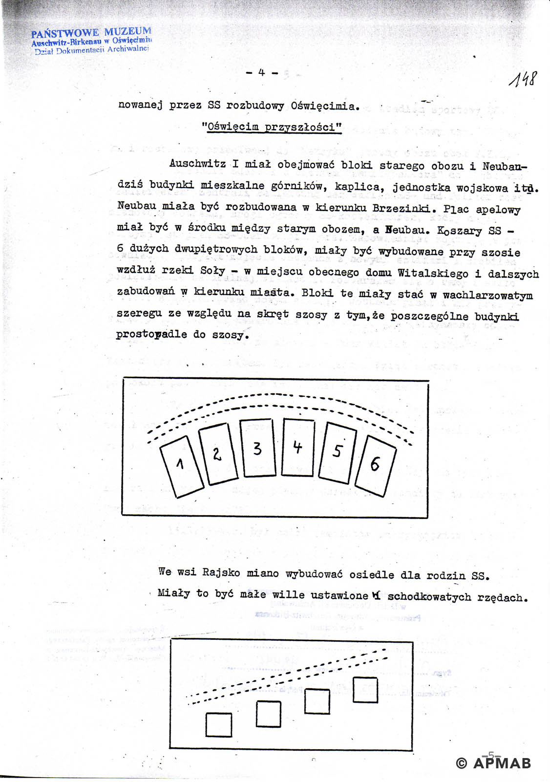 Former prisoner drawing of sub camp Raisko. D APMAB