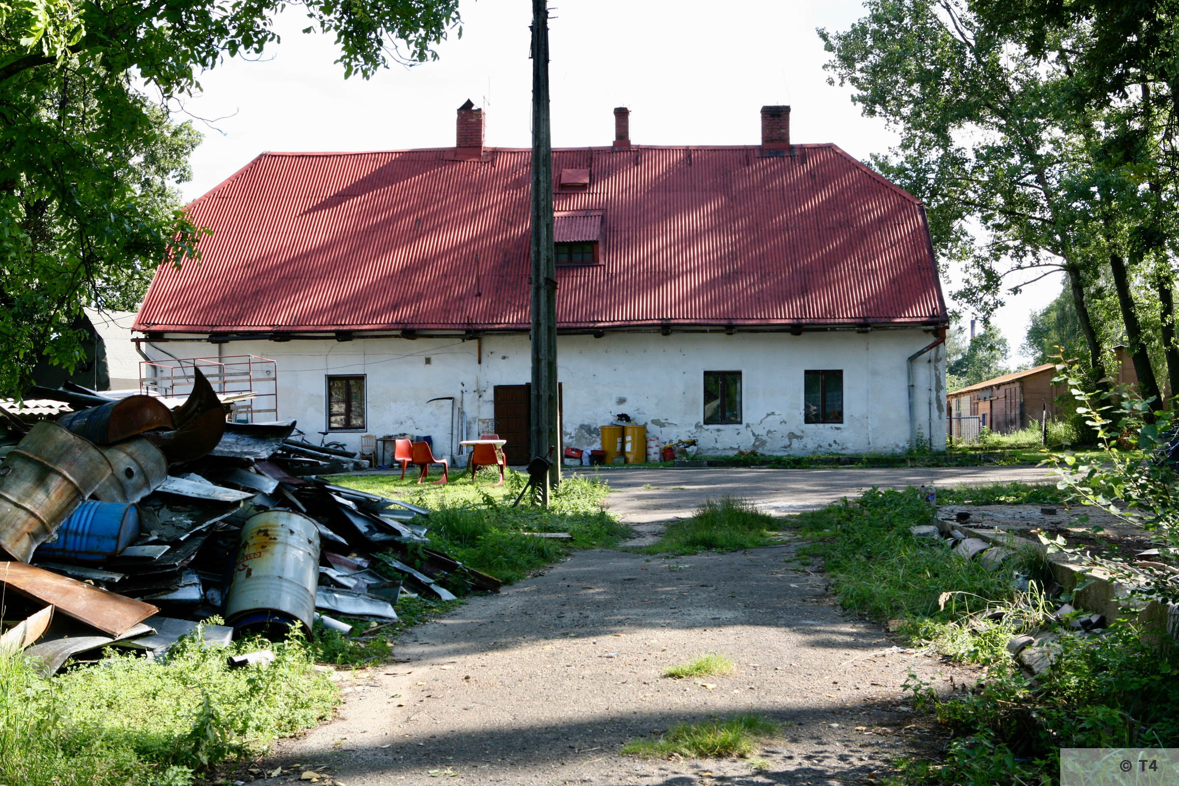 Former smithy building from inside the former sub camp. 2007 T4 9293