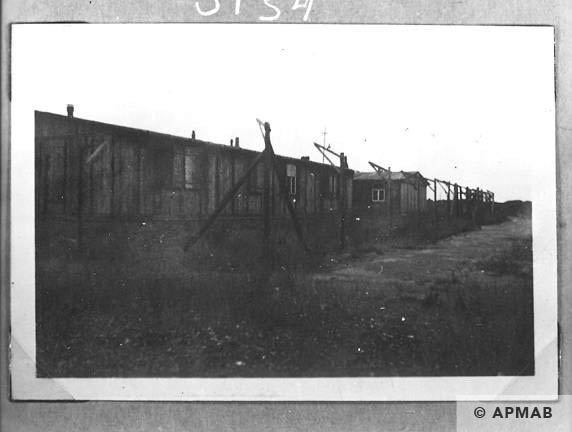 Fragment of fence and barracks for prisoners in 1967 APMAB 13407
