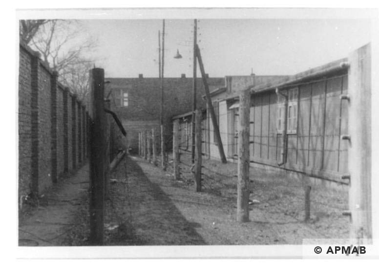 Fragment of fence and buildings of the sub camp. 1960 to 1965 APMAB 21080 1