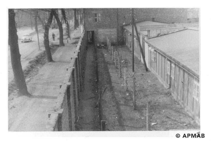 Fragment of fence and buildings of the sub camp. 1960 to 1965 APMAB 21080 5