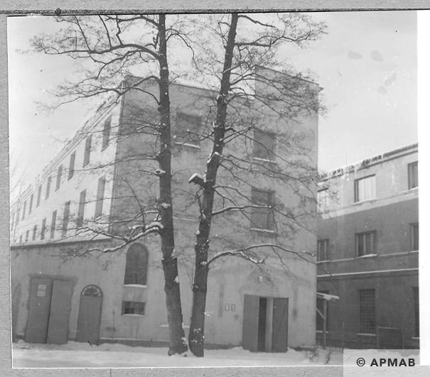 Fragment of main entrance to the building where female prisoners lived. 1966 APMAB 9256