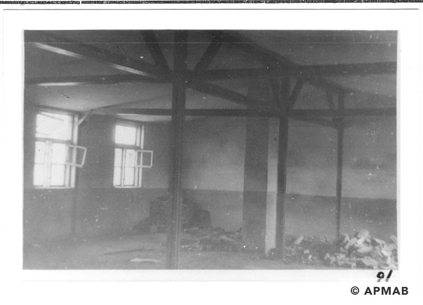 Fragment of the interior in one of the camp buildings. 1960 to 1965 APMAB 21080 9
