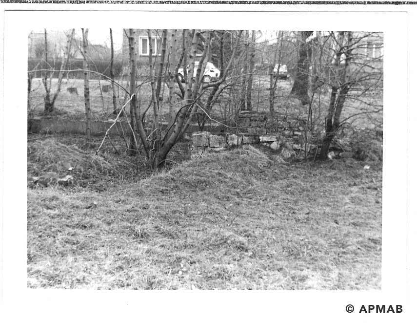 Fragments of building on former sub camp area. 1993 APMAB 21744 3