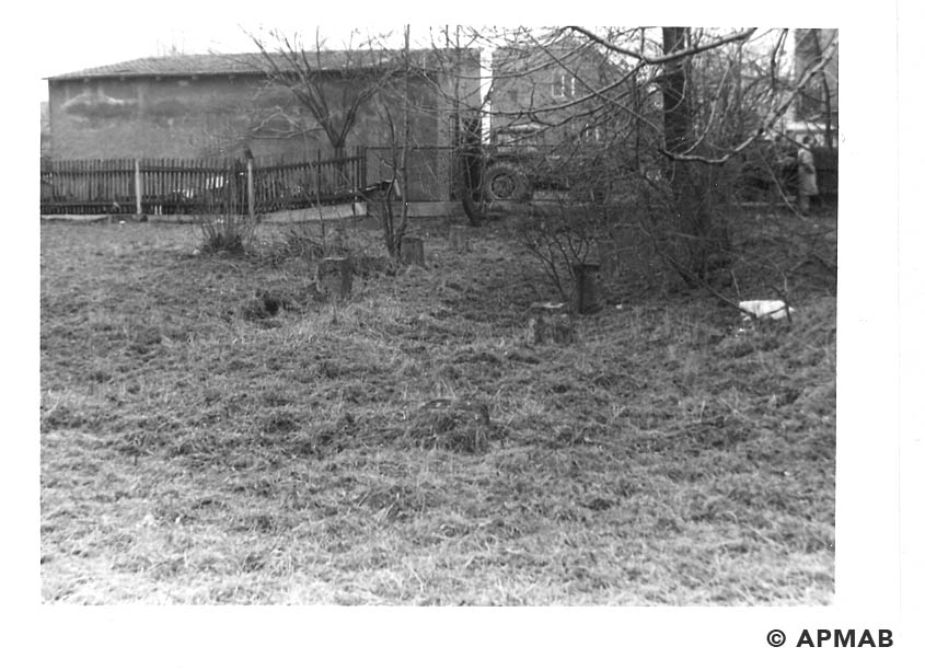 Fragments of building on former sub camp area. 1993 APMAB 21744 4