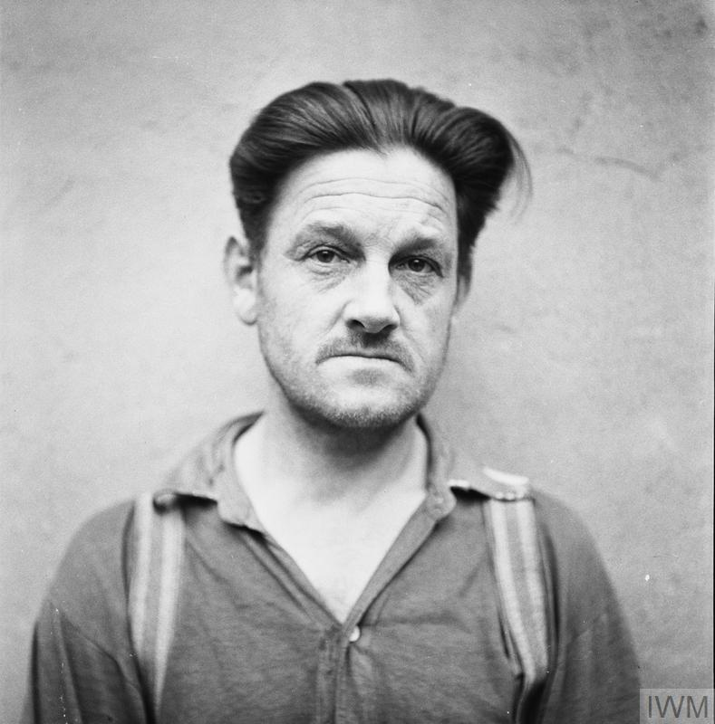Franz Hössler in British custody awaiting trial for crimes committed in Bergen-Belsen and Auschwitz. BU 9714. IWM